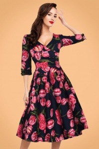 Dolly and Dotty Navy Tulip Dress 102 39 22963 20171023 01