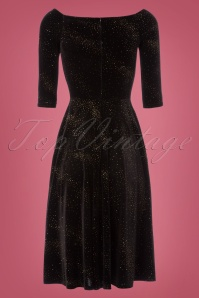 Vintage Chic Pin Dot Glitter Velvet Dress 102 10 23380 20171023 0006W