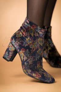 La Strada Indigo Blue Floral Booties 441 39 23901 model 18102017 002W