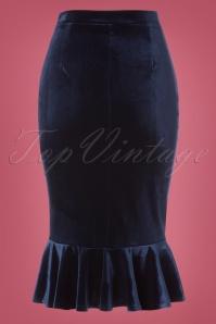 Vintage Chic Velvet Peplum Skirt 120 31 22473 20171023 0008W