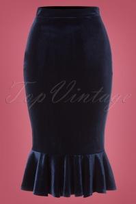 Vintage Chic Velvet Peplum Skirt 120 31 22473 20171023 0001W