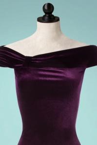 Vintage Chic Velvet Side Purple Maxi Dress 108 60 22470 20171023 0001popV