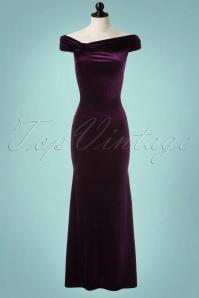 Vintage Chic Velvet Side Purple Maxi Dress 108 60 22470 20171023 0001pop
