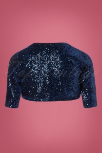 Vintage Chic Sequin Blue Bolero 141 31 23924 20171023 0003W