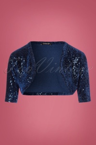 Vintage Chic Sequin Blue Bolero 141 31 23924 20171023 0001W