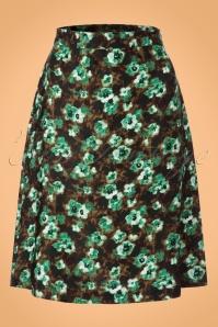 60s Fleur Skirt in Green