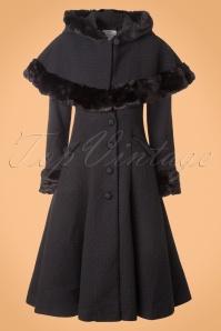 Collectif Clothing Anoushka Black Faux Fur Winter Coat 152 10 16231 20151012 0014W (2)