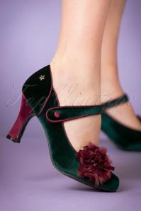Joe Browns Couture Green Parade Shoe 402 40 23446 model 18102017 003W