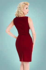 Hearts and Roses Red Velvet Lace Pencil Dress 100 20 22731 20171025 0007