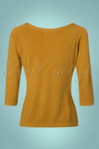 Dancing Days by Banned Pretty Illusion Mustard Bow Top 113 80 23280 20171025 0009W