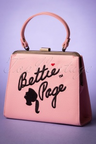 50s Bettie Page Handbag Zenia in Powder Pink