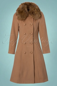 Hearts and Roses Beige Faux Fur Winter Coat  152 52 23154 20171025 0011W