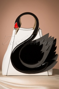 Victoria's Gem Swan Bag in White  212 59 23897 20171026 0019w