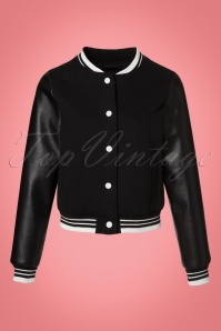 Collectif Clothing Britney Plain College Jacket 21747 20170609 0004W