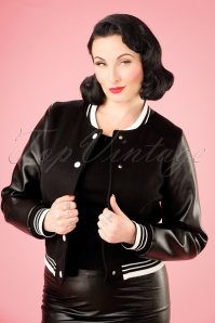 Collectif Clothing Britney Plain College Jacket 21747 20170609 1W