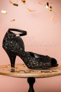 Fabulicious Black Glitter Pump 403 10 23813 26102017 010W