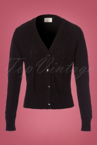 50s Empire Cardigan in Black