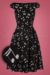 Lindy Bop Christy Music Notes Swing Dress 102 14 22938 20171026 0008W1