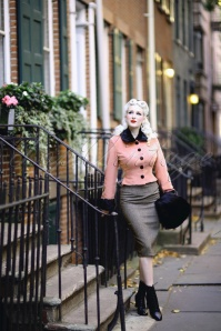 Collectif Clothing Marianne Fur Trim Jacket in Pink and Black 21745 20170609 0003Rachel6 (002)