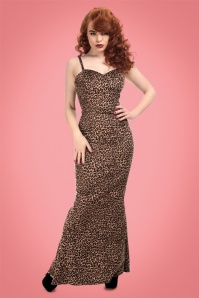 Collectif Clothing Delilah Leopard Velvet Maxi Dress 21822 20170615 0018