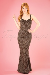 Collectif Clothing Delilah Leopard Velvet Maxi Dress 21822 20170615 0017W
