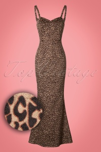 Collectif Clothing Delilah Leopard Velvet Maxi Dress 21822 20170615 0008W1