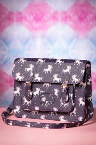 Satty Unicorns Satchel Bag Années 50 en Violet