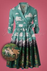 50s Vivi Alpine Swing Dress in Mint