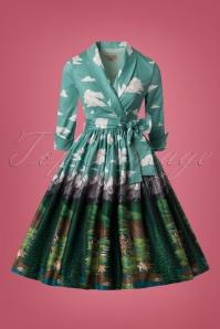Lindy Bop Alpine Floral Swing Dress 102 39 22913 20171030 0004W