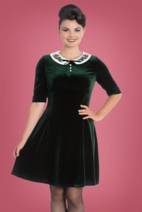 Bunny Merrily Mini Velvet Green Dress 102 40 22606 20171030 0012