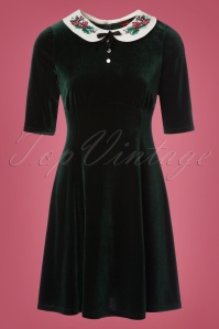 Bunny Merrily Mini Velvet Green Dress 102 40 22606 20171030 0002W