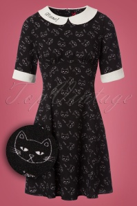 Bunny Matou Cat Mini Dress 102 14 22604 20171030 0001W1