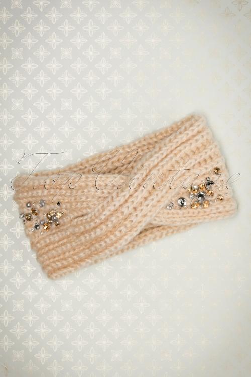 Alice Hannah Sharon Jewelled Headband in Cream 202 51 22687 30102017 008W