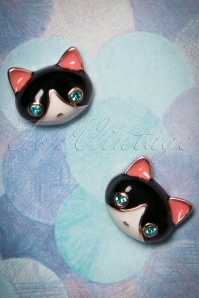 50s Puurfect Kitten Stud Earrings in Gold