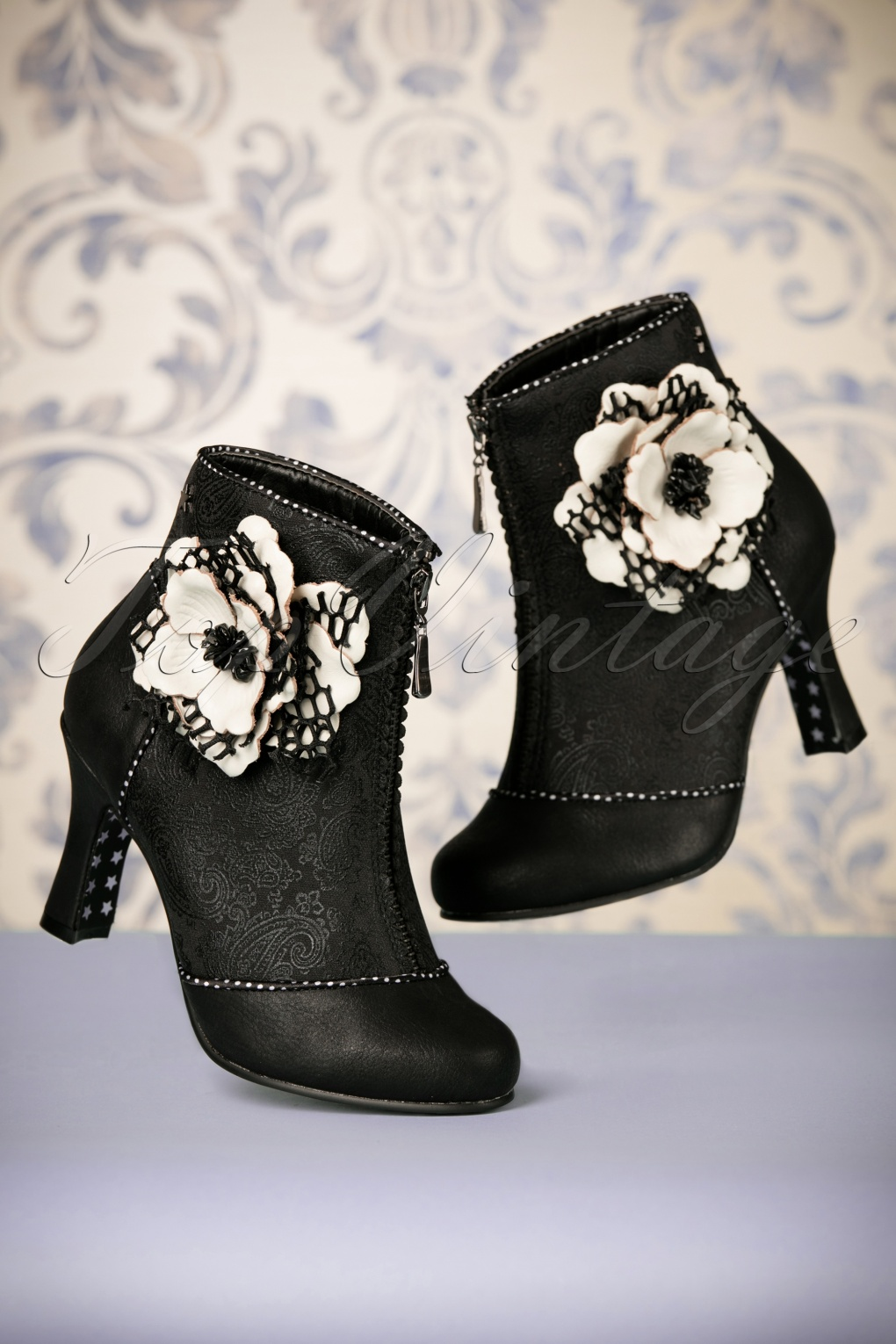 Retro Boots, Granny Boots, 70s Boots 40s Christobel Booties in Black £73.36 AT vintagedancer.com