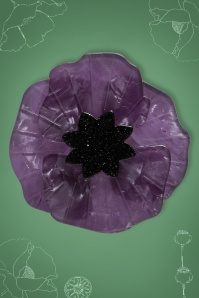 Esrtwilder 60s Poppy Brooche in Purple 340 60 23921 01