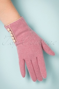 Powder 40s Wool Pink Glove 250 22 22352 31102017 004W