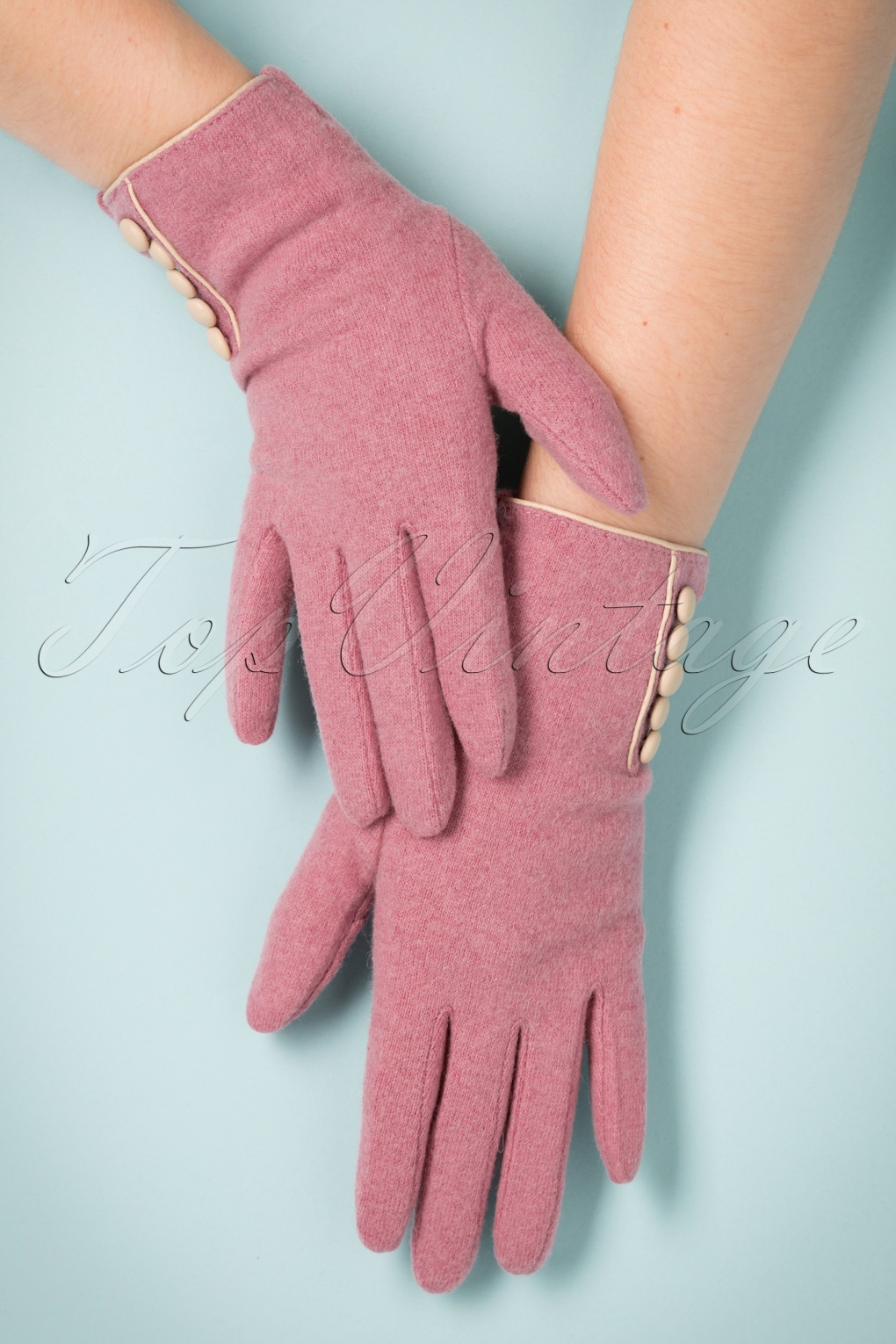 Vintage Style Gloves 40s Clementine Wool Gloves in Candy Pink £26.17 AT vintagedancer.com