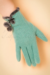 Powder 40s Wool green Glove 250 40 22351 31102017 006W