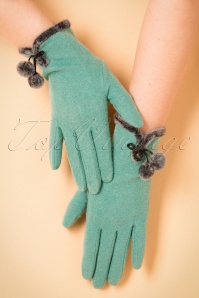 Powder 40s Wool green Glove 250 40 22351 31102017 004W