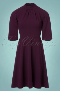 Vintage Chic Bagged Cuff Purple Dress 102 60 22481 20171031 0001W