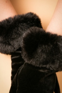 Amici Black Fur Glove 250 10 22333 31102017 012
