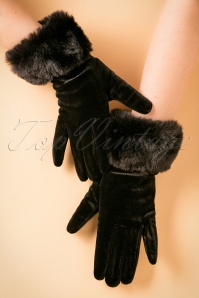 Amici Black Fur Glove 250 10 22333 31102017 003W