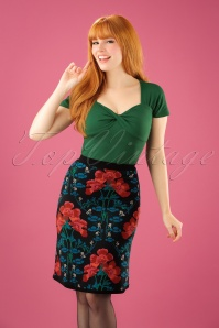 King Louie Floral Belle Skirt 120 14 21392 20170921 2W