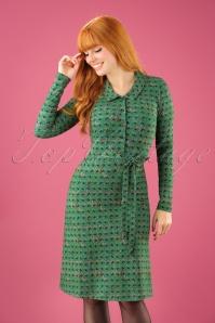 60s Kanda Dress in Green