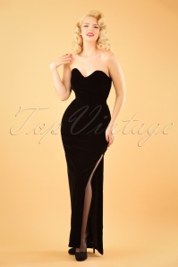 Collectif Clothing Doris Party Maxi Dress in Black 21827 20170613 3W