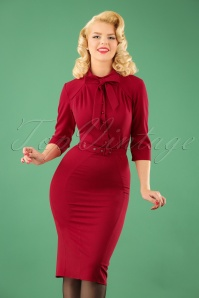 Miss Candyfloss Red Pencil Dress 100 20 22129 20170725 1W