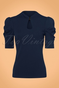 Vixen Dita Top in Navy 113 31 22412 20170918 0012w