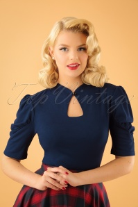 Vixen Dita Top in Navy 113 31 22412 20170918 1W