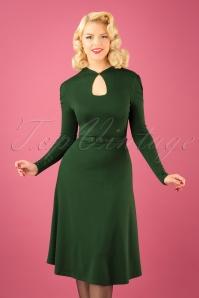 50s Dita Swing Dress in Green